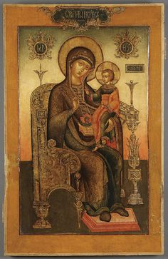 A PAIR OF LARGE AND EXQUISITE RUSSIAN ICONS, THE MOTHER OF GOD AND CHRIST, CIRCA…