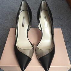 Classy and sassy heels! A stiletto heel, pointed toe heel that can you wear for a professional-chic look, your next gala or wedding! Great leather, purchased from Century 21 and worn only twice. BCBG Shoes Heels