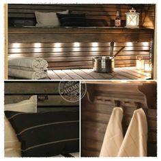 Sauna | Oma koti onnenpesä Sauna Lights, Natural Swimming Pools, Natural Pools, Pool Landscaping, Backyard Pools, Spa Rooms, Small Pools, Dream Pools, Saunas
