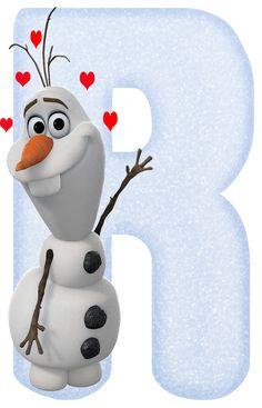 Amoroso Alfabeto de Olaf. | Oh my Alfabetos! Olaf Frozen, Frozen Font, Disney Frozen, Frozen Birthday Theme, Frozen Theme, 2nd Birthday Parties, Scrapbook Da Disney, Frozen Cards, Disney Letters