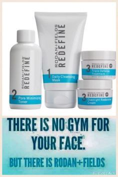There is no gym for your face! (but there is Rodan + Fields!  Why not give the Solution Tool go and see what the doctors suggest for you!  https://ktomb.myrandf.com/Pages/OurProducts/GetAdvice/SolutionsTool