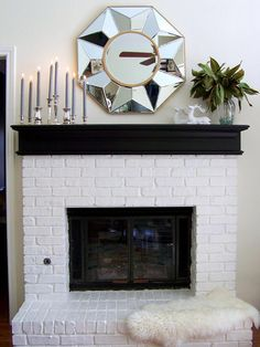 A fireplace mantel is a substantial part of the whole fireplace setup of a home. Without the fireplace mantel, there wouldn't be much to be excited about a fireplace. Scandinavian Fireplace, White Fireplace, Fireplace Design, Fireplace Mantels, Fireplace Ideas, Mantel Ideas, Fireplace Decorations, Scandinavian Style, Fireplace Redo