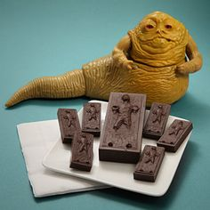I bought 2 molds so I can make geeky Han Solo in Carbonite chocolates for Christmas :)