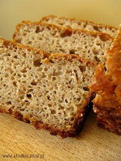 100% chleb żytni Banana Bread, Baking, Health, Per Diem, Salud, Bread, Backen, Healthy, Postres