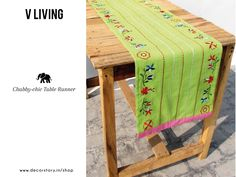 Dainty & Classic are the perfect words for this ‪#‎TableRunner‬ by V.Living. Bring a bit of nature to your dining table at home & purchase this exquisitely embroidered piece from www.decorstory.in now!