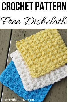 Dishcloth or Washcloth Crochet Pattern, Free Crochet Pattern This textured crochet dishcloth crochet pattern is easy and quick for beginners. The free tutorial will help you make a durable scrubbie for your kitchen when made with cotton yarn. Crochet Crafts, Easy Crochet, Free Crochet, Crochet Ornaments, Crochet Snowflakes, Crochet Scrubbies, Dishcloth Crochet, Crochet Doilies, Dishcloth Knitting Patterns