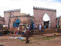 Guinea-Bissau - men in Islamic garb, Bafata