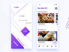 Order food in nearby location from using this app. We are designing this app ui. Hope you like this!!!! App design and development by Mindinventory. ______________________________________________...