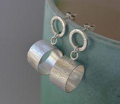 Sterling silve circle stud earrings. Sterling silver earrings. Silver jewellery. Handmade