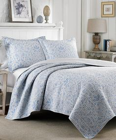 Another great find on #zulily! Gray Mia Quilt Set #zulilyfinds