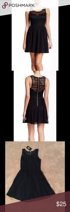 "Want & Need Black Lace Dress Want & Need black lace dress is a mini skater. Great for weddings, evening events and date night. Sweetheart neck, lined, 34"" length, 100% polyester. Hand wash cold. Fits true to size. Want & Need Dresses Mini"