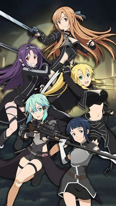 Cosplay Anime Kirito Cosplay it's just me, or asuna, sinon and yukki just fit in right, both leafa and sachi are really match with the costumes. Sword Art Online Kirito, Sword Art Online Cosplay, Sword Art Online Sachi, Art Anime Fille, Anime Art Girl, Anime Girls, Manga Girl, Cosplay Anime, Sao Cosplay