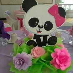 Panda Themed Party, Panda Birthday Party, Panda Party, 1st Birthday Parties, Decoracion Baby Shower Niña, Cute Panda Cartoon, Bear Nursery, Baby Party, First Birthdays
