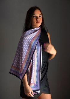 Handmade Scarves, Summer Scarves, Scarf Design, How To Wear Scarves, Neck Scarves, Womens Scarves, Pure Silk, Painted Silk, Hand Painted