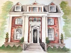 House Portraits: A Perfect Gift Carrie Beth Taylor Home Painting