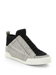 3.1 Phillip Lim Morgan Leather Slip-On High-Top Sneakers