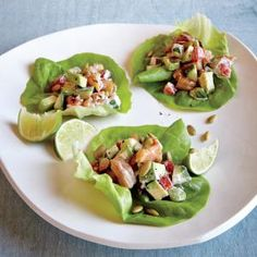 Chipotle Shrimp Lettuce Wraps | CookingLight.com #myplate #protein #veggies