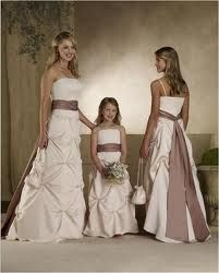 Classy Ivory Strapless Junior Bridesmaid Dress --- This kind of satin and chiffon bridesmaid dress features strapless or spagetti straps design,floor length,empire waist,a long and wide choclate sash,regular ruffles on the skirt. Ball Dresses, Ball Gowns, Evening Dresses, Flower Girl Dresses, Prom Dresses, Flower Girls, Dresses 2014, Ivory Dresses, Formal Dresses