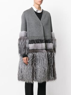 Liska fur panell coat