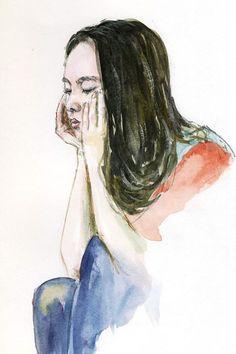 Watercolour Part 2 by Bakhtiar Umataliev, via Behance