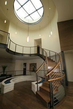 Modern staircase, designed by Stuart Silk Architects, www.stuartsilk.com, #modernstaircase, #modernarchitecture