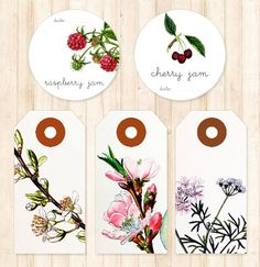 Printable jam labels and gift tags
