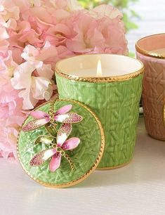 Green And Purple, Pink And Gold, Rose Candle, Pink Candles, Ceramic Flowers, Pink Love, Candle Making, Pattern Art, Textures Patterns