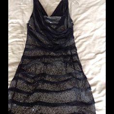 Express sparkle dress Express  black and silver sparkle dress.  Size 8. Only worn once. Express Dresses Midi