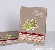 - Papierhandwerk -: Weihnachtskarten Massenproduktion...