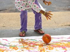 Rolling Pumpkin Painting !! ~ Putti's World -kids-activities
