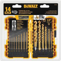 Zoro's assortment of pilot point drill bits are available in all sizes, diameters and materials. Here is some additional information about Dewalt Pilot Point Drill Bit Set. Dewalt Drill, Dewalt Tools, Metal Wood, Dremel Bits, Cutting Wine Bottles, Pilot, Bit Set, Drill Set, Must Have Tools