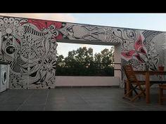 ©MarianoPadilla - Mural - Wall Painting - Uni Posca on 16m² wall - Terraza China