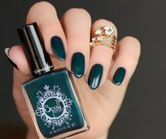 ~Dark Horse~ is a matte finish with subtle sparkle. Add a glossy topcoat to get a whole new look! Photo courtesy of Constantly Polished (IG).