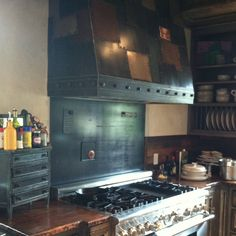 Copper Countertop and Kitchen Hood - Created by Oak Hill Iron
