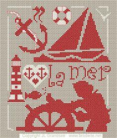 point de croix gratuit1 free this week, the sea