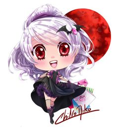 Little chibi of Lua for some keychains °w° i am so slooooow /dies Lua , Red Moon (c) Me~
