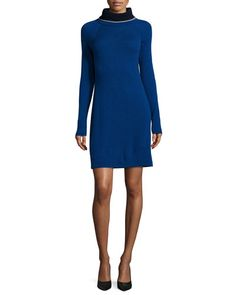 Magaschoni colorblock cashmere dresses