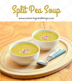 Split Pea Soup is a hearty and comforting soup made with dried split peas, ham bone and a mirepoix blend of onions, carrots and celery