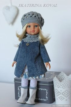 Baby girl diy crafts crochet hats 63 Ideas for 2019 American Girl Outfits, American Doll Clothes, Baby Doll Clothes, Crochet Doll Clothes, Knitted Dolls, Girl Dolls, Baby Dolls, Diy Crafts Crochet, Baby Coat