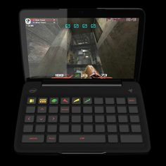 Razer Switchblade dynamic tactile keyboard recognized the game you are playing and displays important hotkeys
