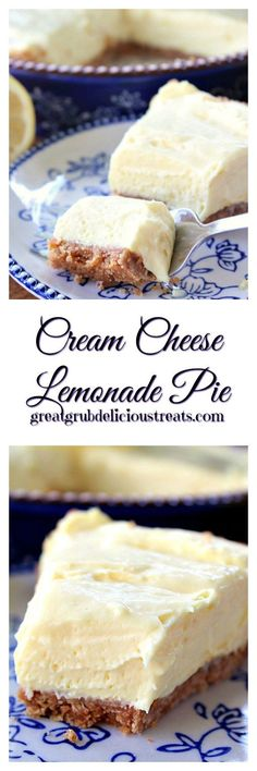Cream Cheese Lemonade Pie - Here is another delicious recipe from my friend, Dawn, from work. So refreshing and delicious! Cream Cheese Lemonade Pie - Here is another delicious recipe from my friend, Dawn, from work. So refreshing and delicious! 13 Desserts, Lemon Desserts, Lemon Recipes, Pie Recipes, Sweet Recipes, Delicious Desserts, Dessert Recipes, Yummy Food, Recipies