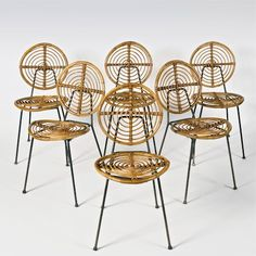Galerie Riviera | Collection, Thonet, curved rattan chairs