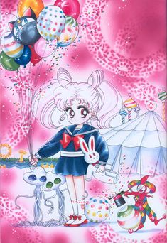 ちびうさ ChibiUsa : 美少女戦士セーラームーン原画集 Bishoujo Senshi Sailor Moon Original Picture Collection Vol.2 by Naoko Takeuchi - The May issue of Nakayoshi 1993, title page