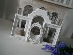 picture frames OOAK 4 piece open frame set shabby by ShabbyRoad, $32.00
