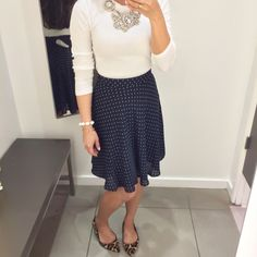 H&M Polka Dot Circle Skirt
