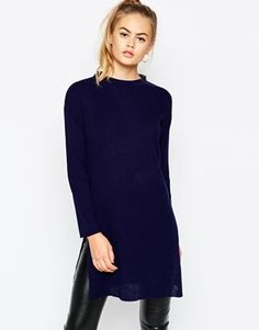 Daisy Street Knitted Tunic Jumper with Side Splits