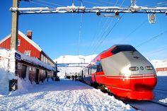 The train from Oslo to Bergen rises to Finse then descends via an extremely pretty sequence of gorges, forests and fjords. Norway Sky Bridge, Land Of Midnight Sun, Cross Country Skiing, Sea Level, Outdoor Life, Bergen, Public Transport, Oslo, Sailing