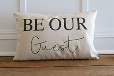 12x18 Be Our Guest Pillow Cover by SoVintageChic on Etsy