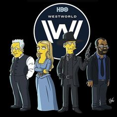 Simpsons // Ford, Dolores, MIB and Bernard // Westworld