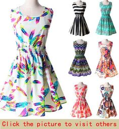 New Brand 2015 Summer Women Casual Print Sleeveless Dress. Discover and shop the latest things you love on www.zkkoo.com